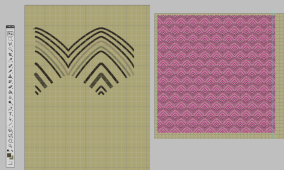 Creating seamless pattern for the walls